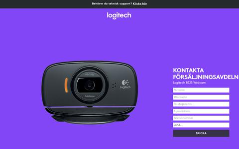 Screenshot of Landing Page logitech.com - Logitech B525 Webcam | Contact Us - captured Oct. 25, 2017