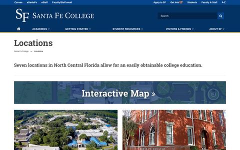 Screenshot of Locations Page sfcollege.edu - Locations - captured April 10, 2017