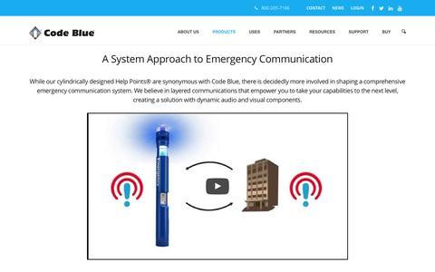 Screenshot of Products Page codeblue.com - Code Blue Corporation–Emergency Blue Light Phones - captured Nov. 8, 2016