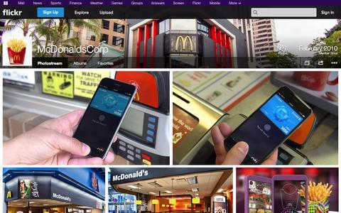 Screenshot of Flickr Page flickr.com - Flickr: McDonaldsCorp's Photostream - captured Oct. 26, 2014