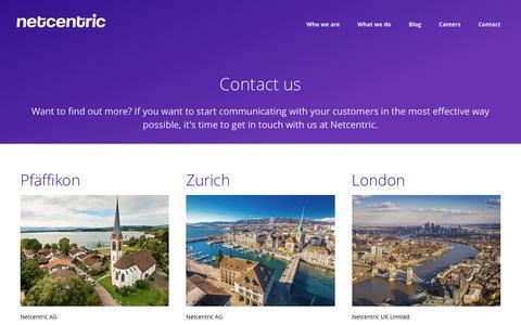 Screenshot of Contact Page netcentric.biz - Contact - captured Nov. 29, 2016