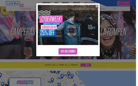 Screenshot of Home Page littleblue.com.ar - Camperas y Buzos de Egresados Little Blue - captured Nov. 11, 2016
