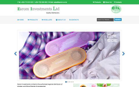 Screenshot of About Page esrom.co.ke - Esrom Investments Ltd - captured Oct. 2, 2014