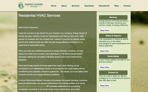 Screenshot of About Page energysaversofflorida.com - Residential HVAC Service | Energy Savers of Florida - captured Dec. 10, 2015