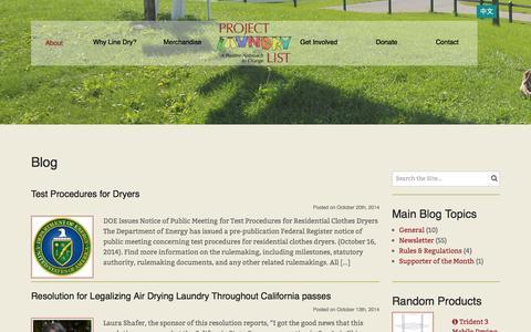 Screenshot of Blog laundrylist.org - Blog - Project Laundry List - captured Nov. 2, 2014