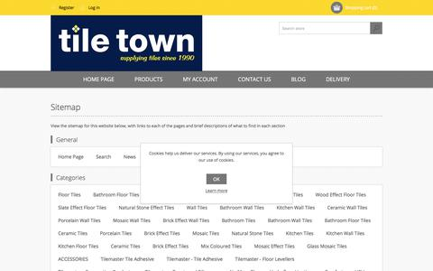 Screenshot of Site Map Page tiletown.co.uk - Sitemap - captured Oct. 24, 2017