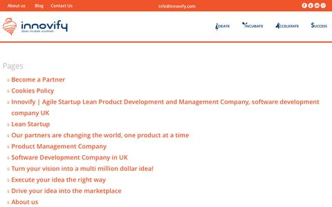 Screenshot of Site Map Page innovify.com - Comments on: Lean Startup - captured Sept. 30, 2014