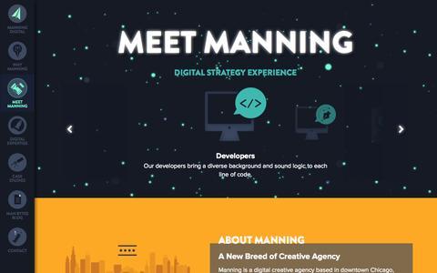 Screenshot of Team Page manningdigital.com - Meet Manning   Manning Digital Creative Chicago Web Strategy, Design and Development, Expect More from Us - captured Sept. 30, 2014