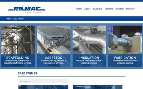 Screenshot of Case Studies Page rilmac.co.uk - Case Studies | Rilmac Group of Companies - captured Oct. 22, 2017