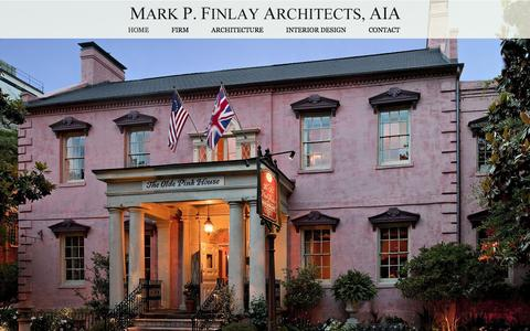 Screenshot of Home Page markfinlay.com - Mark Finlay Architects - captured Feb. 12, 2016