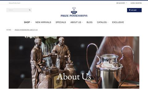 Screenshot of About Page prizepossessions.com - Prize Possessions About Us - captured Nov. 11, 2018
