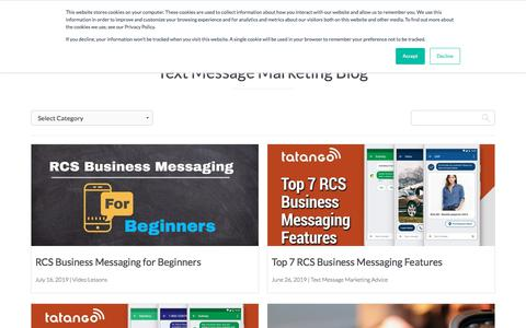 Screenshot of Blog tatango.com - Text Message Marketing Blog | Tatango - captured July 18, 2019