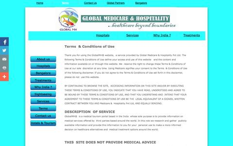 Screenshot of Terms Page globalmh.in - Terms - captured Sept. 27, 2014