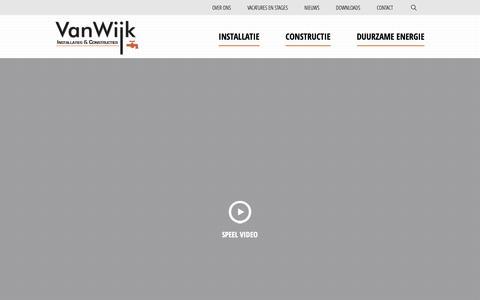 Screenshot of Home Page vanwijkbv.nl - Home - Van Wijk - captured Nov. 15, 2018