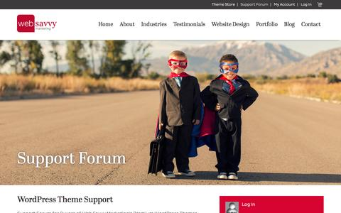 Screenshot of Support Page web-savvy-marketing.com - Support Forum - captured Oct. 2, 2015