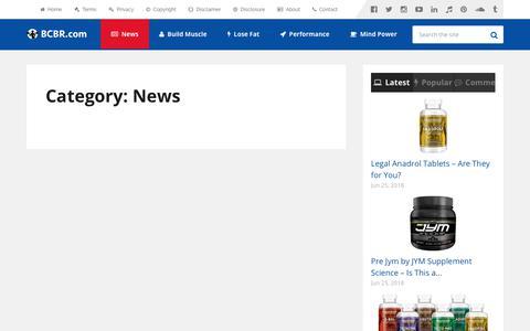 Screenshot of Press Page bcbr.com - Bodybuilding & Welness News 2019 – BCBR - captured Sept. 17, 2019