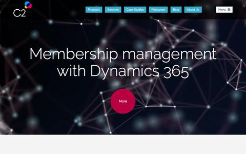 Screenshot of Home Page c2software.com - Business Transformation with Dynamics 365 from C2 - CRM Solution Specialists - captured July 14, 2018