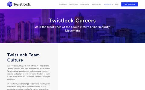 Current Twistlock Job Opportunities [Join the Team]