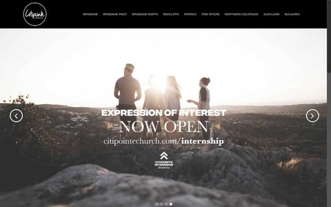 Screenshot of Home Page citipointechurch.com - Citipointe Church | Citipointe Church - captured July 18, 2018