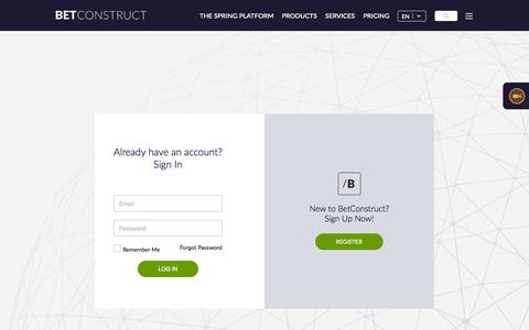 Screenshot of Support Page betconstruct.com - Support - captured Nov. 6, 2015