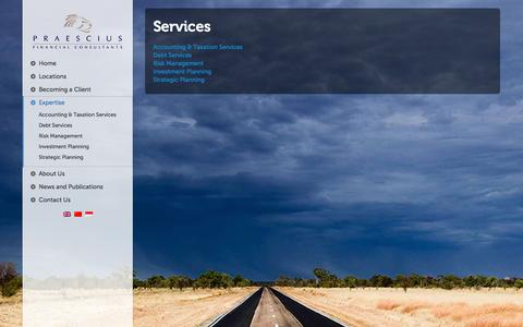 Screenshot of Services Page pfinancial.com.au - Services | Pfinancial - Financial Consultants, Accounting, Superannuation, Professional Investment Services - captured Oct. 2, 2014