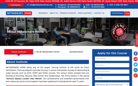 Screenshot of About Page networkershome.com - Cisco Training institute, Cisco Certification, CCIE, CCNP, CCNA | Networkers Home - captured Oct. 29, 2017