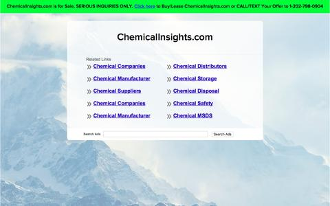 Screenshot of Home Page chemicalinsights.com - ChemicalInsights.com - captured July 28, 2017