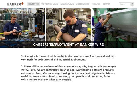 Screenshot of Jobs Page bankerwire.com - Careers/Employment | Banker Wire - captured Oct. 27, 2016