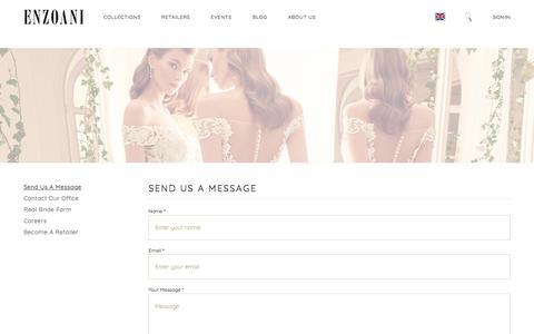 Screenshot of Contact Page enzoani.com - Contact Us   Enzoani - captured July 9, 2019