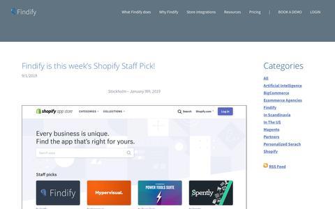Screenshot of Blog findify.io - Findify - Blog - captured Feb. 8, 2019