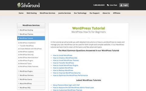 WordPress Tutorial - How To Create A WordPress Site