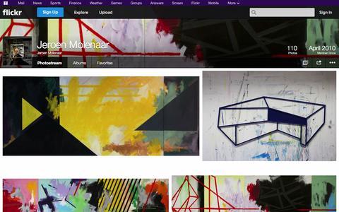 Screenshot of Flickr Page flickr.com - Flickr: Jeroen Molenaar's Photostream - captured Oct. 23, 2014