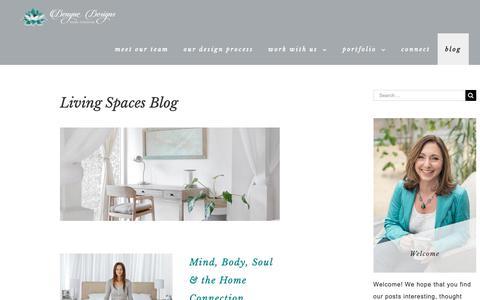 Screenshot of Blog denynedesigns.com - Living Spaces Blog - Denyne Designs Home Interiors - captured Nov. 6, 2018