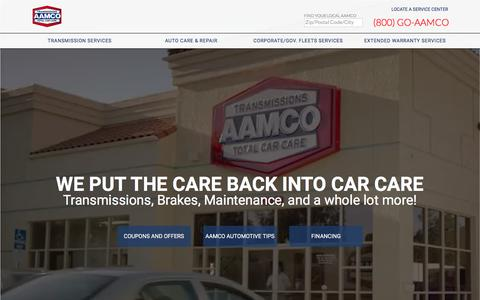 Screenshot of Home Page aamco.com - Transmission shop & Total Car Care | AAMCO - captured Sept. 23, 2018