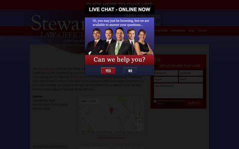 Screenshot of Contact Page stewartlawoffices.net - Contact « STEWART LAW OFFICES | Personal Injury Lawyer | Rock Hill, Beaufort | Columbia Auto Accident Lawyer – Spartanburg Accident Attorney - captured Dec. 2, 2016