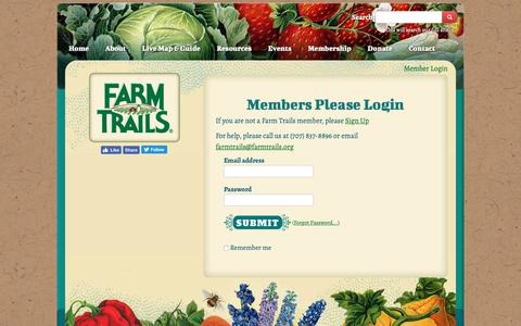 Screenshot of Login Page farmtrails.org - Sign in - captured Oct. 10, 2018