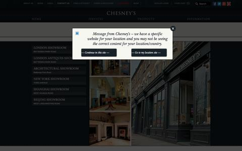 Screenshot of Contact Page chesneys.co.uk - Contact Us | Chesney's - captured Nov. 5, 2016