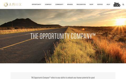Screenshot of Contact Page ariix.com - The Opportunity Company - ARIIX - The Opportunity Company - captured Nov. 4, 2018