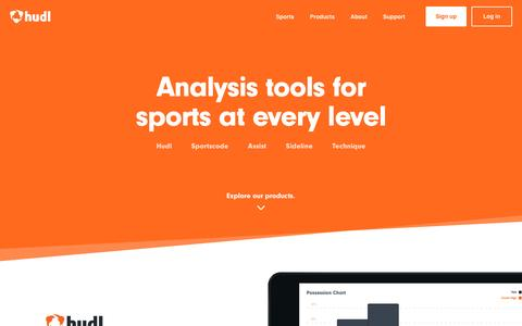 Screenshot of Products Page hudl.com - Performance analysis tools for sports at every level | Hudl - captured Jan. 16, 2017