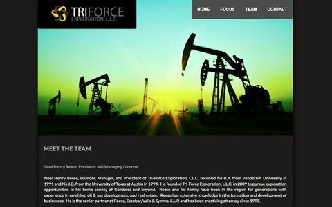 Screenshot of Team Page triforceexploration.com - TEAM - captured Dec. 16, 2016