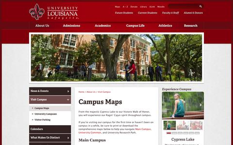 University Of Louisiana At Lafayette Campus Map.Medium Traffic Education Maps Directions Pages Website