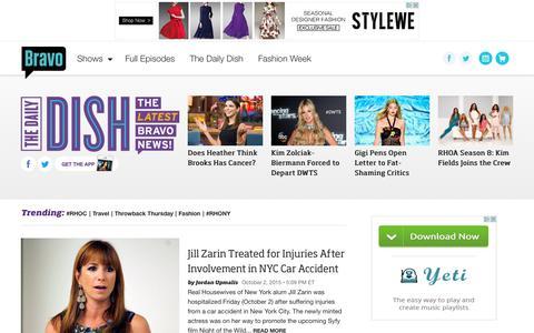 Screenshot of Press Page bravotv.com - The Daily Dish | Bravo TV News - captured Oct. 2, 2015