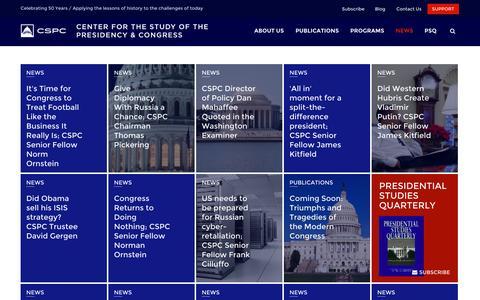 Screenshot of Press Page thepresidency.org - News room   CSPC - captured Oct. 2, 2014