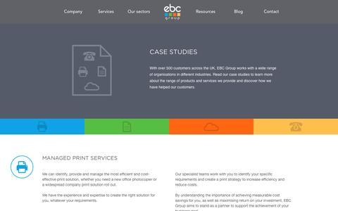 Screenshot of Case Studies Page ebcgroup.co.uk - Case Studies - EBC Group - captured April 16, 2016