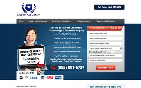 Screenshot of FAQ Page studentloanforgivenessplans.org - Student Loan Forgiveness for Teachers - captured Nov. 3, 2014
