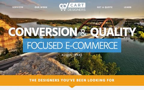 Screenshot of Home Page cartdesigners.com - Cart Designers | Design, Development, and E-Commerce Business Advice - captured July 19, 2015