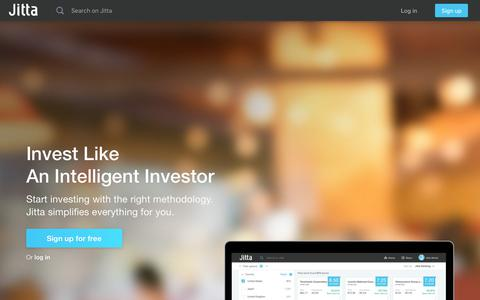 Screenshot of Home Page jitta.com - Jitta: Fundamental stock analysis/resources for value investors - captured Sept. 20, 2018