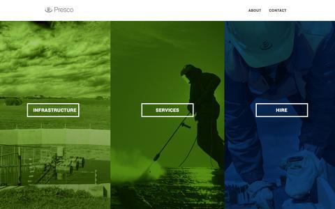 Screenshot of Home Page presco.co.nz - Home - Presco Group - captured March 23, 2016