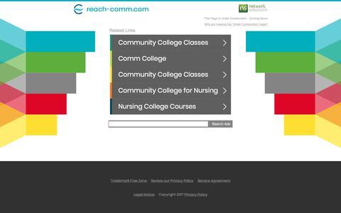 Screenshot of Home Page reach-comm.com - reach-comm.com - captured Oct. 23, 2017