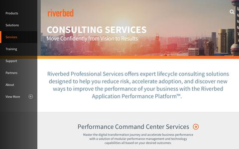 Screenshot of Services Page riverbed.com - Services Overview | Riverbed | MY - captured Nov. 17, 2017